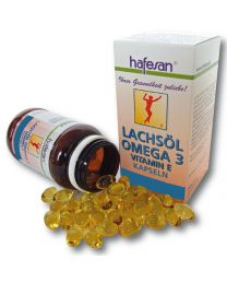 hafesan Salmon Oil + Vitamin E 500 mg Capsules